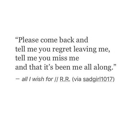 Please Come Back Baby Quotes