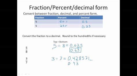 Section 3.5 Converting Between Fraction And Decimal Forms