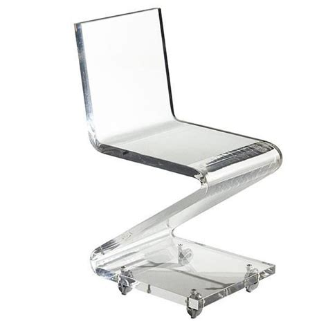 custom clear acrylic chair with casters buy clear