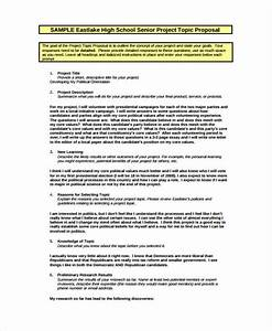 15 school project proposal templates free sample With senior project proposal template