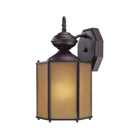 bronze outdoor wall light with compact fluorescent light
