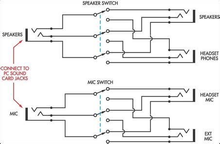 Speaker Headphone Switch For Computers Circuit Diagram