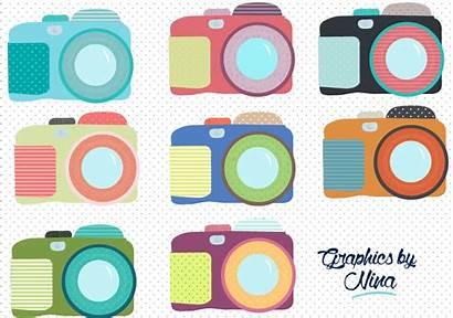 Clipart Camera Cameras Colorful Clip Illustrations Creative