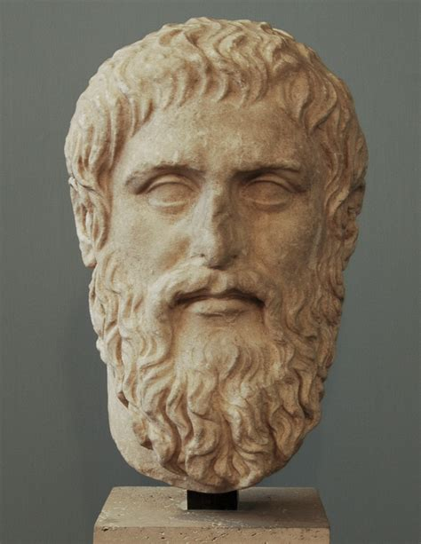 portrait of plato luni marble copy after a