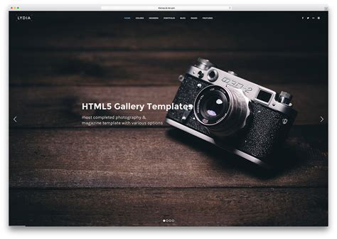 Top Free Photography Website Templates by 21 Top Gallery Html5 Website Templates 2017 Colorlib