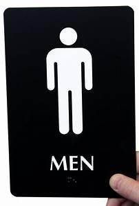 9in x 6in men bathroom braille sign sku se 1773 color for Male female bathroom sign images