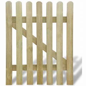 Portillon Bois Jardin : vidaxl portillon de jardin en bois 100 x 120 cm ~ Preciouscoupons.com Idées de Décoration