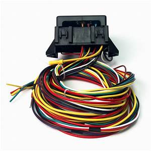 12v 10circuit Basic Wire Harness Fuse Box Street Hot Rat