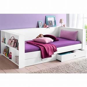 Matratze 90x200 Kind : lit multi rangements enfant avec 2 tiroirs de lit blanc autres mobilier 3suisses ~ Frokenaadalensverden.com Haus und Dekorationen