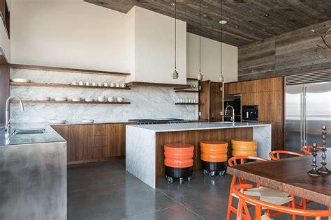 dashing modern kitchens  combine marble  wood