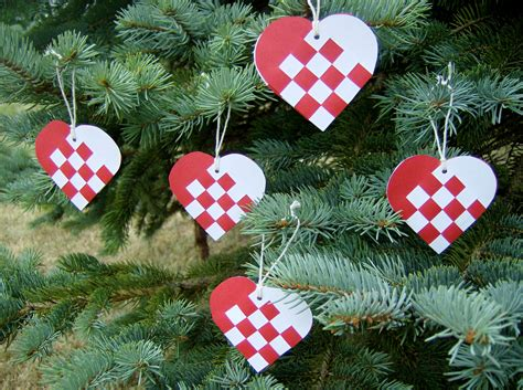 items similar to danish mini woven heart christmas ornaments or nordic scandinavian traditional