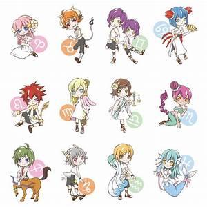 Cute chibi zodiac signs | Chibi