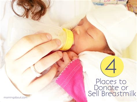 Moming About Where To Donate Or Sell Breast Milk