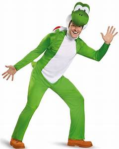 Super Mario: Deluxe Yoshi Costume For Adults BuyCostumes com