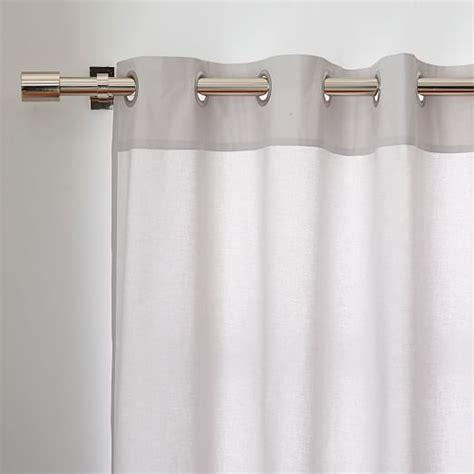 cotton canvas grommet curtain gray west elm