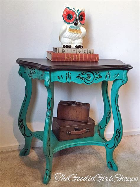 turquoise side table patina green side table general finishes design center 2971
