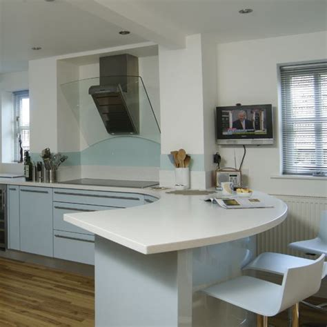 galley kitchen with breakfast bar image result for rounded end glass breakfast bar galley 6781