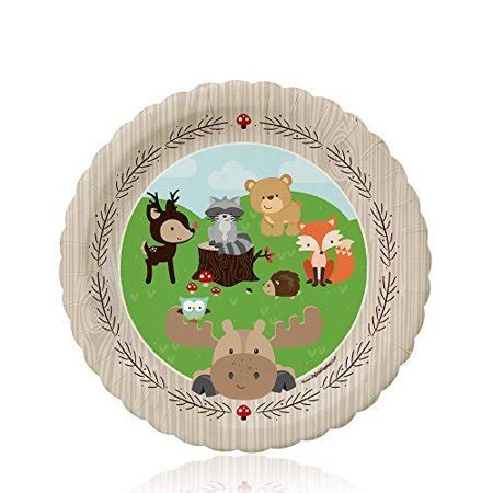 Woodland Creatures Party Dessert Plates (8 count