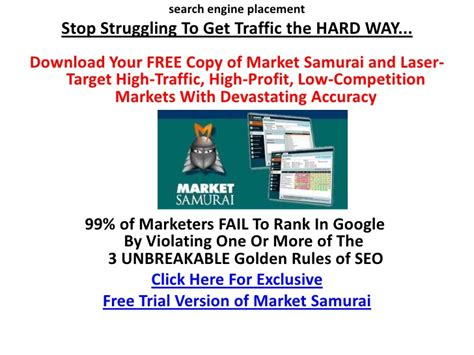 Search Engine Placement Marketing by Search Engine Placement
