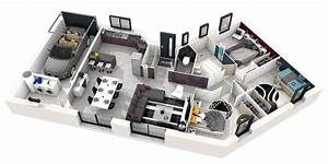 Plan De Maison Plain Pied 3 Chambres 3d