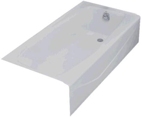 Kohler Villager Tub Specs by Kohler K 716 0 5 White Villager Cast Iron Recessed Bath