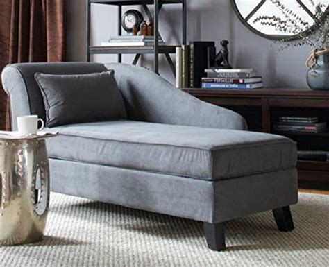storage chaise lounge chair this microfiber upholstered