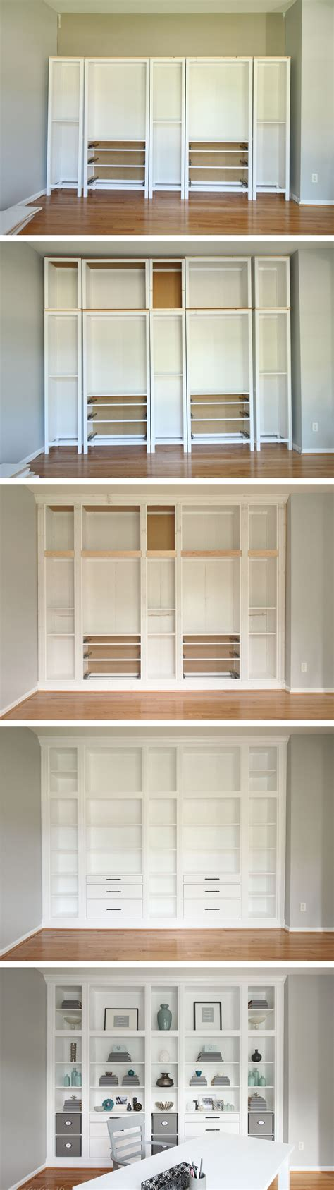 bookcases that look built in diy built in bookcases made with ikea hemnes furniture