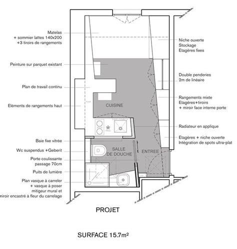 amenagement chambre 20m2 aménagement studio 12 16m2 fonctionnel et