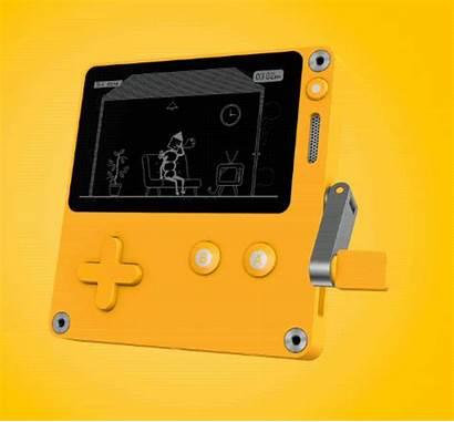 Playdate Handheld Console Crank Games Verge Tiny