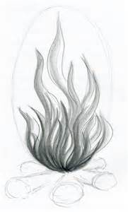 Pencil Drawings Fire Flames