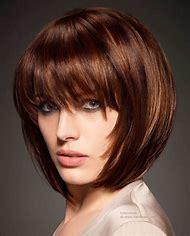 Hairstyle Bob Haircuts with Straight Bangs