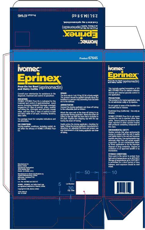 ivomec eprinex pour  fda prescribing information side