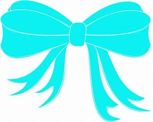 Turquoise Bow Ribbon Clip Art at Clker.com - vector clip ...