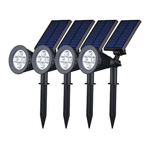 top rated led landscape lighting best rated outdoor solar powered spot lights 2017 top