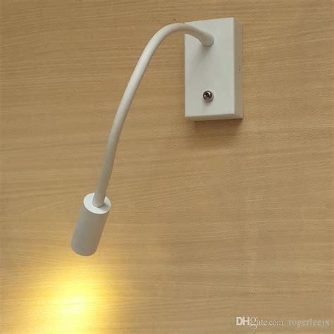 2019 topoch bedside wall lights energy saving flex neck 360mm matte white cree led 3w