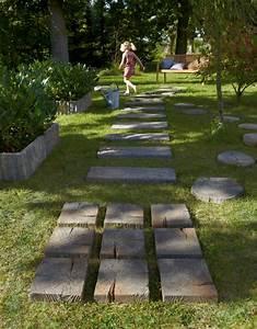 3 idees pour amenager son allee de jardin travauxcom With amenagement d une terrasse exterieure 14 comment poser des dalles en pierre naturelle sur son balcon
