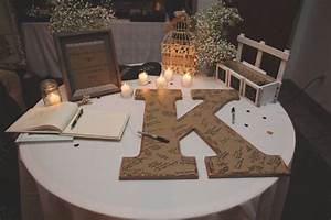 wedding guest book alternative wedding guestbook signs With giant letter guest book