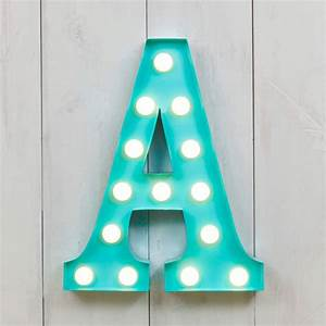 vegas metal led circus letter light f by all things With lighted letter a