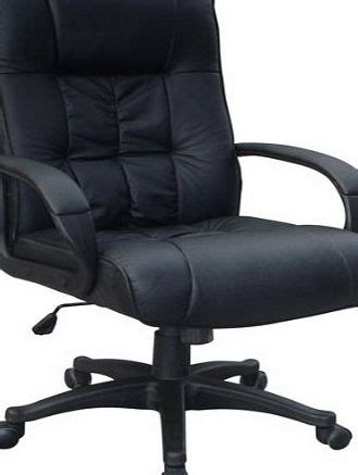 retail zone padded cow split leather high back office