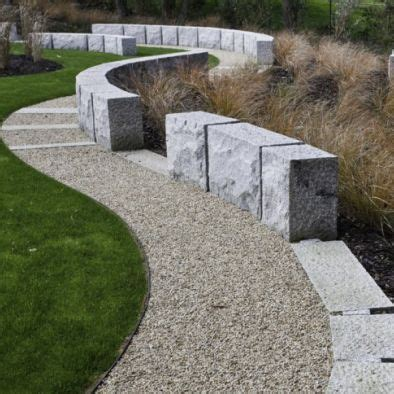 Curvilinear Architecture With Landscaped Gardens by Curvilinear Gravel Walkway Pathways Modern Landscape