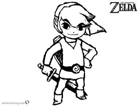 link coloring pages the legend of coloring pages link sketch free