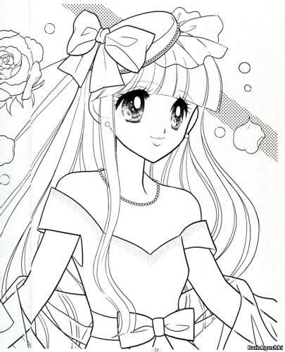 Anime Shoujo Coloring Pages
