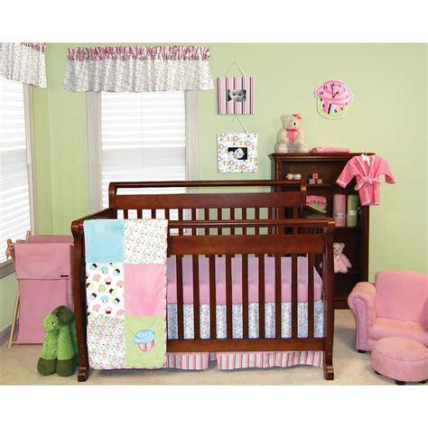 trend lab cupcake 6 piece crib bedding set pink trend