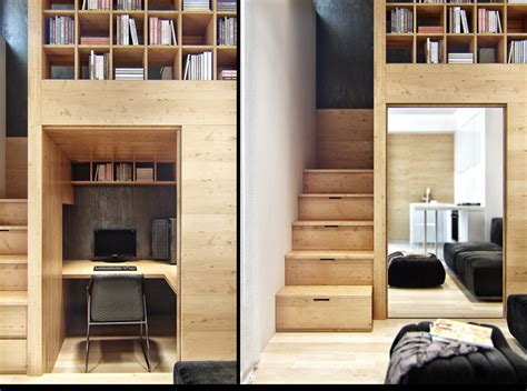 Small Apartment With Snug Storage by Built In Storage Ideas Interior Design Ideas