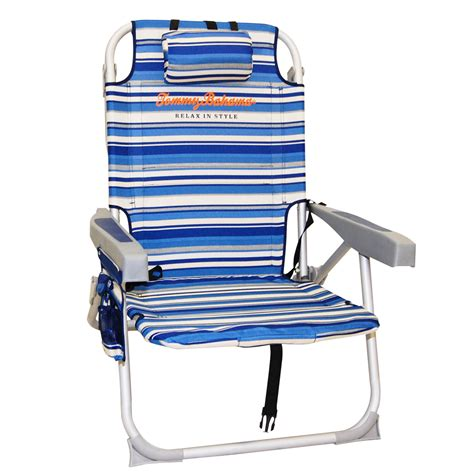 Bahama Backpack Cooler Chair Blue Stripe by This Item Is No Longer Available