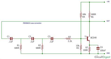 phase shift oscillator circuit diagram