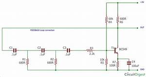 Phase Shift Oscillator Circuit Diagram