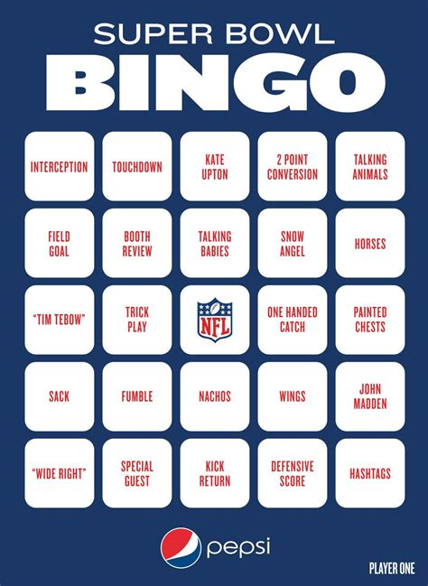 Super Bowl Bingo To Play During The Big Game With Images