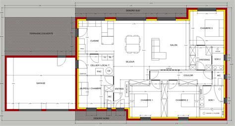 plan maison 3 chambres 1 bureau beautiful voici une nouvelle version aprs rflexion et