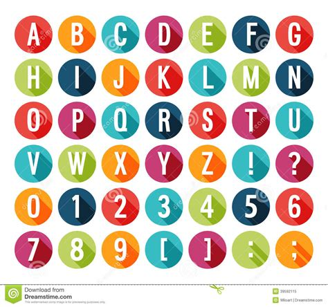 set of alphabet letters and icons for alphabet design flat icons alphabet stock vector image 39592115 39852